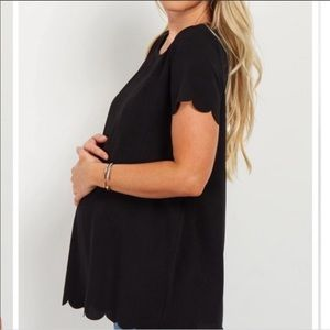 Pinkblush Scalloped Hem Maternity Blouse